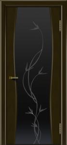 Двери ЛайнДор Арабика тон 35 стекло Флора