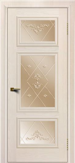 Двери ЛайнДор Афина Жемчуг тон 27 стекло Прима бронза