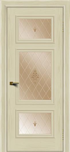 Двери ЛайнДор Афина тон 34 стекло Лилия бронза