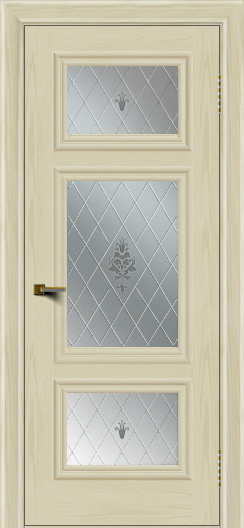 Двери ЛайнДор Афина тон 34 стекло Лилия