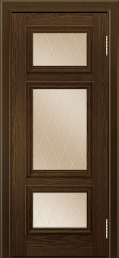 Двери ЛайнДор Афина тон 35 стекло Лондон бронза