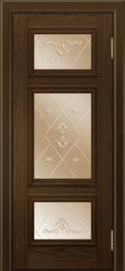 Двери ЛайнДор Афина тон 35 стекло Прима бронза