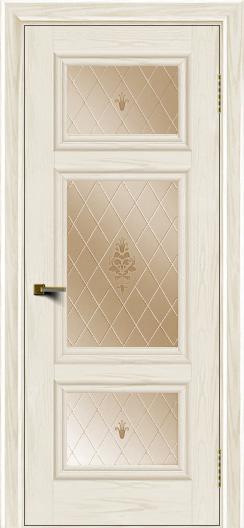 Двери ЛайнДор Афина тон 36 стекло Лилия бронза