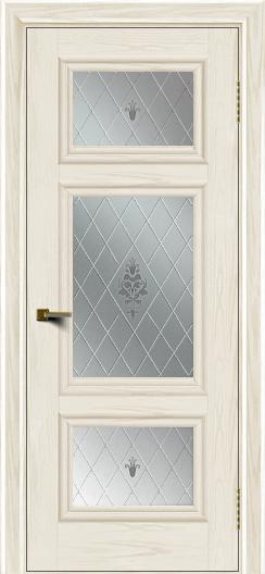 Двери ЛайнДор Афина тон 36 стекло Лилия