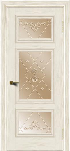 Двери ЛайнДор Афина тон 36 стекло Прима бронза