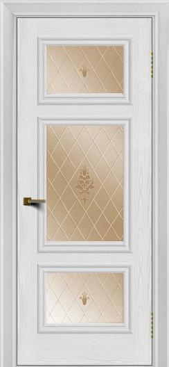 Двери ЛайнДор Афина тон 38 стекло Лилия бронза