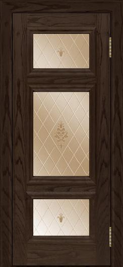 Двери ЛайнДор Афина тон 39 стекло Лилия бронза