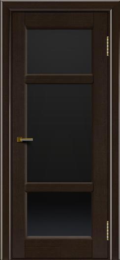 Двери ЛайнДор Афина 2 венге тон 12 стекло черное полное