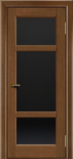 Двери ЛайнДор Афина 2 дуб тон 5 стекло черное полное
