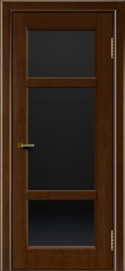Двери ЛайнДор Афина 2 орех тон 2 стекло черное полное