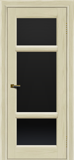 Двери ЛайнДор Афина 2 тон 34 стекло черное полное