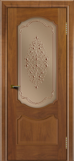 Двери ЛайнДор Богема американский орех тон 23 стекло Вива бронза