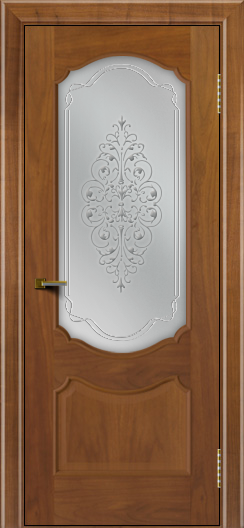 Двери ЛайнДор Богема американский орех тон 23 стекло Вива сатин