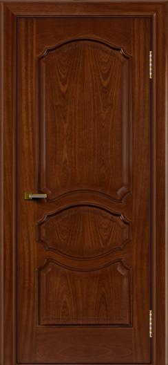 Двери ЛайнДор Богема красное дерево тон 10 глухая