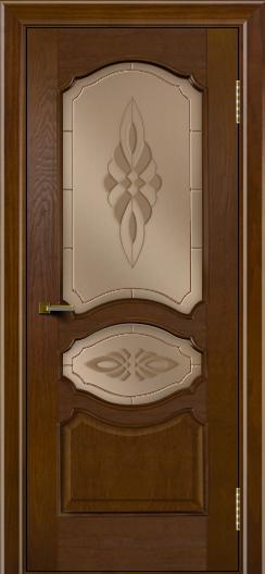 Двери ЛайнДор Богема тон 30 стекло Византия бронза
