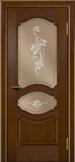 Двери ЛайнДор Богема тон 30 стекло Рим бронза