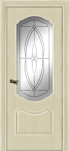 Двери ЛайнДор Богема тон 34 стекло Белое