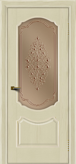 Двери ЛайнДор Богема тон 34 стекло Вива бронза