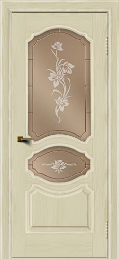 Двери ЛайнДор Богема тон 34 стекло Рим бронза