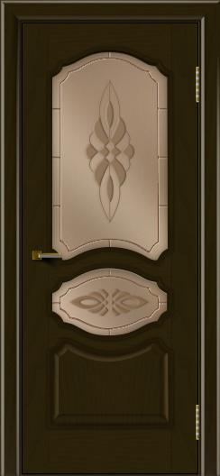 Двери ЛайнДор Богема тон 35 стекло Византия бронза
