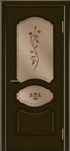 Двери ЛайнДор Богема тон 35 стекло Маки