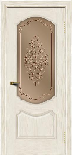 Двери ЛайнДор Богема тон 36 стекло Вива бронза