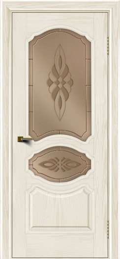 Двери ЛайнДор Богема тон 36 стекло Византия бронза