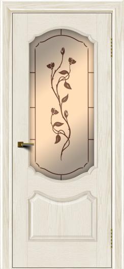 Двери ЛайнДор Богема тон 36 стекло Маки