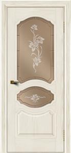Двери ЛайнДор Богема тон 36 стекло Рим бронза