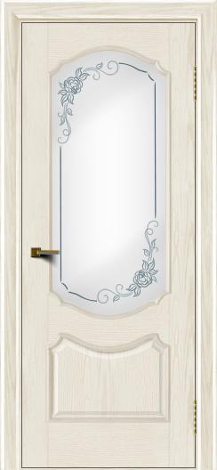 Двери ЛайнДор Богема тон 36 стекло Роза