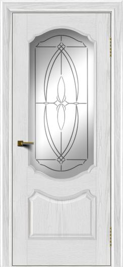 Двери ЛайнДор Богема тон 38 стекло Белое