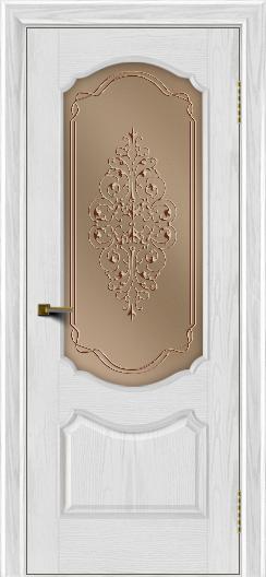 Двери ЛайнДор Богема тон 38 стекло Вива бронза