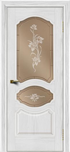 Двери ЛайнДор Богема тон 38 стекло Рим бронза