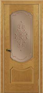 Двери ЛайнДор Богема ясень тон 24 стекло Вива бронза
