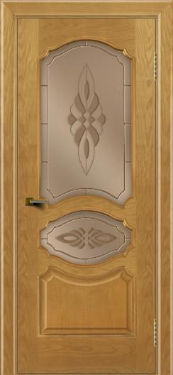 Двери ЛайнДор Богема ясень тон 24 стекло Византия бронза