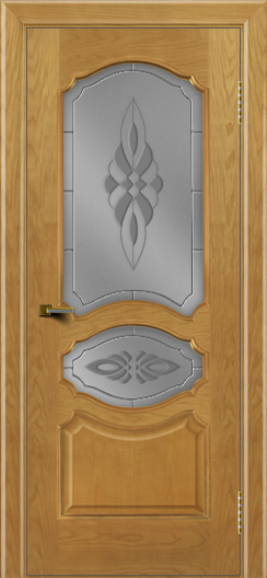 Двери ЛайнДор Богема ясень тон 24 стекло Византия