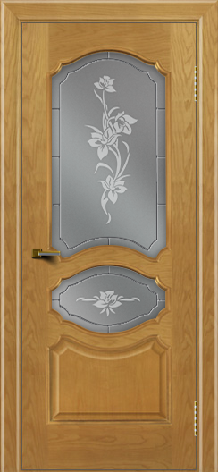 Двери ЛайнДор Богема ясень тон 24 стекло Рим