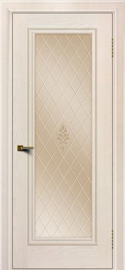 Двери ЛайнДор Валенсия тон 27 стекло Лилия бронза