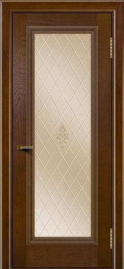 Двери ЛайнДор Валенсия тон 30 стекло Лилия бронза