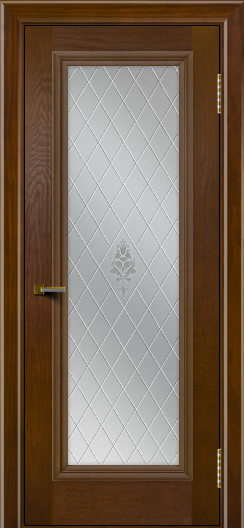 Двери ЛайнДор Валенсия тон 30 стекло Лилия