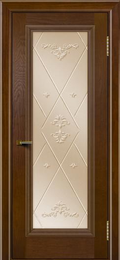 Двери ЛайнДор Валенсия тон 30 стекло Прима бронза