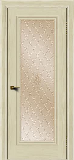 Двери ЛайнДор Валенсия тон 34 стекло Лилия бронза