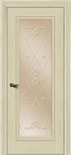 Двери ЛайнДор Валенсия тон 34 стекло Прима бронза