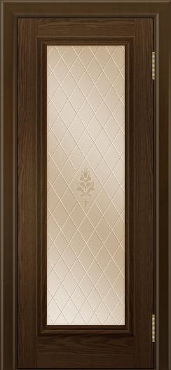 Двери ЛайнДор Валенсия тон 35 стекло Лилия бронза