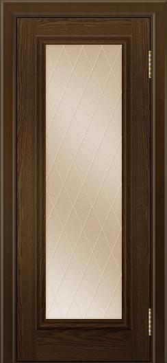 Двери ЛайнДор Валенсия тон 35 стекло Лондон бронза