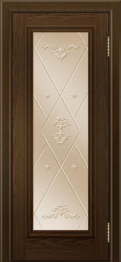 Двери ЛайнДор Валенсия тон 35 стекло Прима бронза