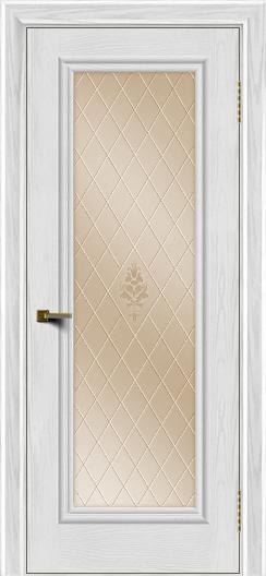 Двери ЛайнДор Валенсия тон 38 стекло Лилия бронза
