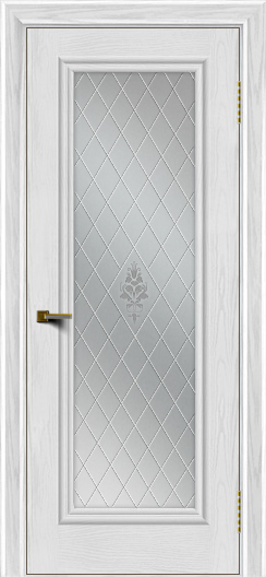 Двери ЛайнДор Валенсия тон 38 стекло Лилия