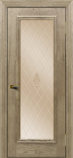 Двери ЛайнДор Валенсия тон 41 стекло Лилия бронза