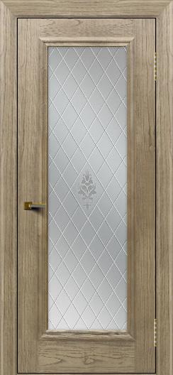 Двери ЛайнДор Валенсия тон 41 стекло Лилия